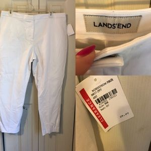 🍍NWT Lands End White Ankle Pants